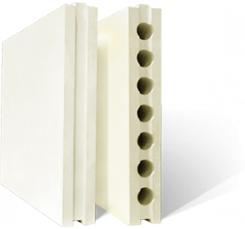 Плиты гипсовые для перегородок пустотелые 667*500*80 Гипсополимер