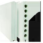 Плиты гипсовые для перегородок полнотелые гидрофобизированные 667*500*80 Гипсополимер