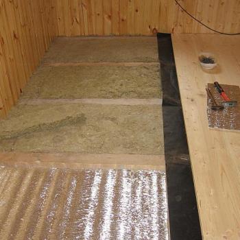 Утепление пола минераловолоконными плитами